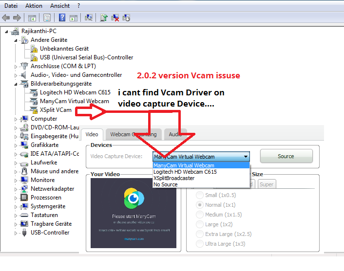 issuse Driver vcam
