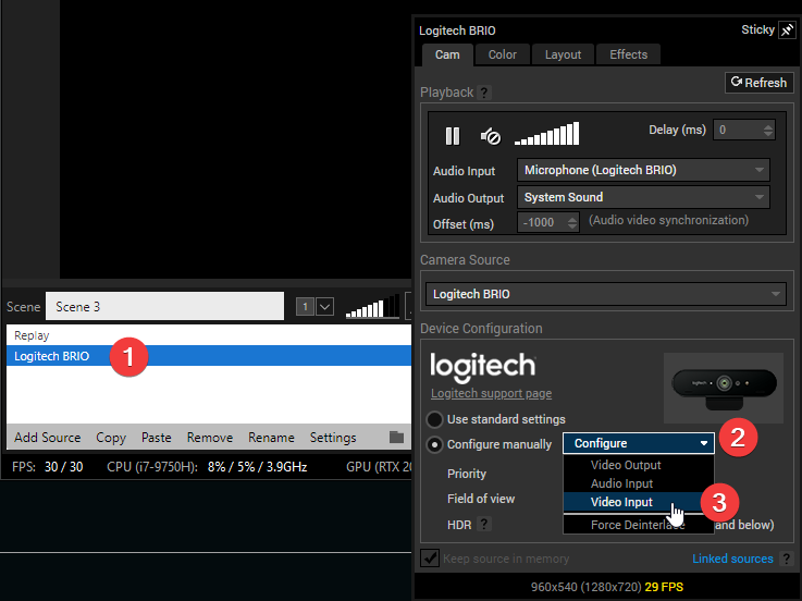 Logitech C920 Webcam Lag Broadcaster Xsplit Community